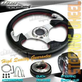 3pc Combo Quick Release Hub 320mm T310 Racing JDM Steering Wheel Mazda