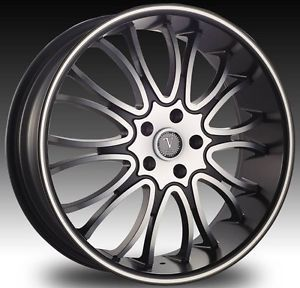 "20"" Velocity VW920 Black Wheel Tire Package Rims Mazda Mitsubishi Nissan Volvo"