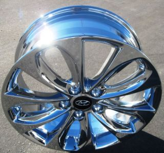 "Exchange Your Stock 4 New 18"" Factory Hyundai Sonata Chrome Wheels Rims"