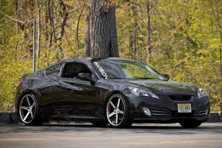 "20"" Hyundai Genesis Coupe Stance SC 5IVE Machined Concave Staggered Wheels Rims"