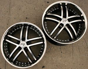 Niche Essence M877 20 x 8 5 10 Black Rims Wheels Nissan 350Z Staggered 35