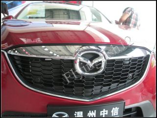Chrome Front Center Grill Grille Cover Trim for Mazda 12 13 CX 5 CX5 2012 2013