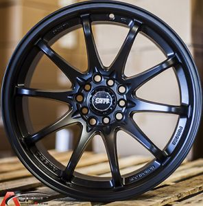 17x9 Str 518 5x100 22 Black Wheel Fit Scion Fr s Subaru BRZ Scion TC XD Beetle