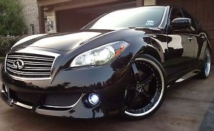 "22"" Black Staggered Infiniti M56S M56 FX50S FX37 G37S M37S Rims Wheels Tires"