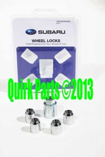 2012 2013 Subaru Impreza XV Crosstrek Alloy Wheel Locks Genuine Brand New
