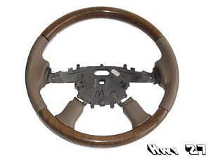 2004 04 Jaguar x Type Steering Wheel Leather Wrapped Wood Grain