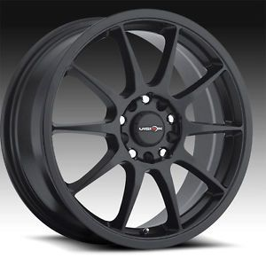 "17"" inch 5x100 5x4 5 Matte Black Wheels Rims 5 Lug Scion Toyota Chevy Pontiac"