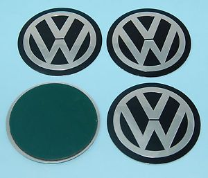 "4X 75mm VW Alloy Wheel Centre Caps Badge Sticker Logo ""New"" Golf Polo"