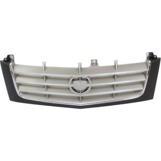 New Grille Assembly Grill Silver Shell Black Insert Cadillac Escalade GM1200513