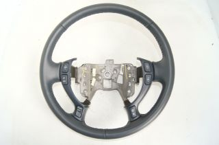 Cadillac 00 05 DeVille Seville Steering Wheel Tux Blue Switches Heated Wheel
