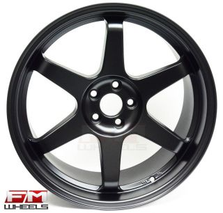 18x8 5 Miro 398 5x100 35 Matte Black Rims Scion FRS XD and TC 2005 2010 Only