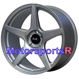 18 18x8 75 XXR 535 Silver Concave Wheels Rims 5x100 Single Drilled 04 Subaru STI