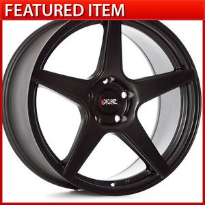XXR 535 18 18x8 75 5 100 35 Flat Black Wheels Rims Subaru WRX Scion FRS BRZ