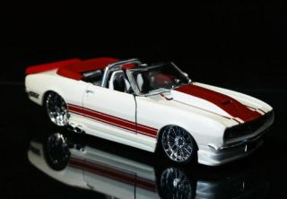 1968 Chevrolet Camaro SS Convertible Custom Shop Diecast 1 24 Scale White