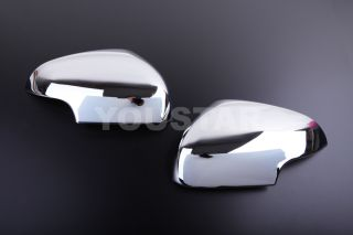 New Pair Jaguar x Type Chrome Side Door Mirror Cover Trims Facelift Model 08 12