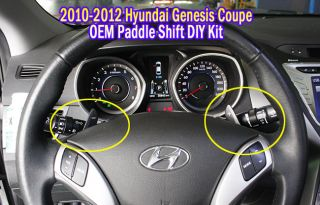 2010 2011 2012 Hyundai Genesis Coupe Paddle Shift Shifters Assy DIY Kit