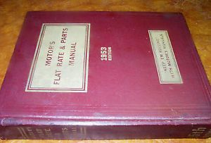 1938 1953 49 50 51 52 Chevy Ford Buick Cadillac Mercury Olds Pontiac Parts Book