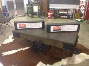Vintage Style Ford Tractor Parts and Service Lighted Signs