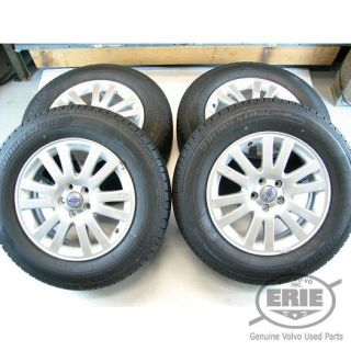 4 Volvo 17x7 Antaeus Alloy Rims Wheels Tires Caps for XC90 03 11