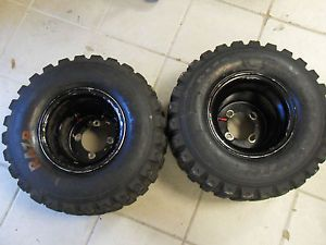 "9"" Rear Rims RAZR Tires Suzuki LTR450 Ltr 450 Z400 Honda TRX 450R Wheels ATV"