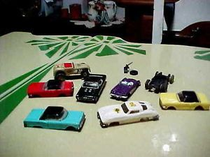 Vtg Lot HO Aurora Slot Cars Body SS Nova Mustang Corvette Rat Rod Parts Restore