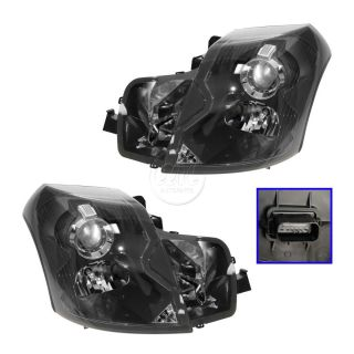 03 07 Cadillac cts Halogen Headlights Headlamps Left LH Right RH Pair Set