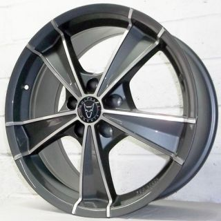 "18"" BMW 3 Series Saloon E36 1990 1998 Wolfrace Roma Gun Pol Alloy Wheels 5x120"