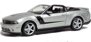 2010 Roush 427R Ford Mustang Convertible Maisto Diecast 1 18 Silver