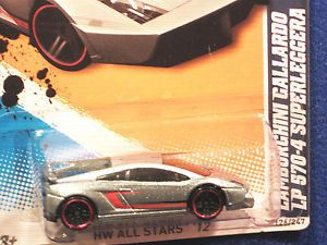 Hot Wheels 2012 Lamborghini Gallardo LP 570 4 Superleggera Met Silver w Red