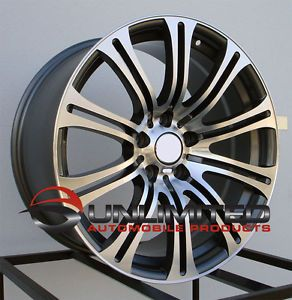 "20"" M3 Style Gunmetal Machined Face Staggered Wheels Rims Fit BMW M3 2008 2009"