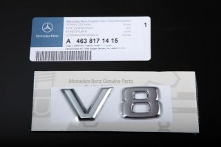 Genuine V8 Badge Mercedes Benz AMG E500 E55 G500 G55 SL500 S500 C55 CL500 CLK55