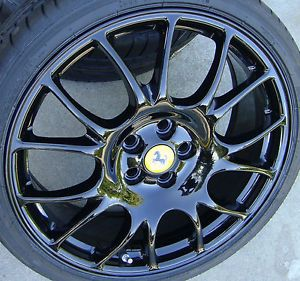 "19"" Ferrari 430 Gloss Black Challenge Wheels Rims Tires F430 360 Stradale"