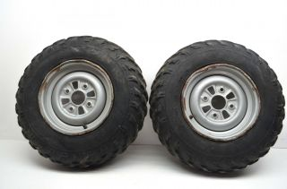 "96 Honda Fourtrax TRX300 Front Wheels Rims 23"" Tires"