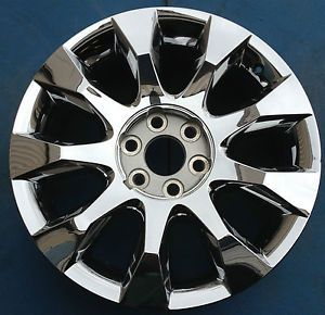 "One 2010 2011 2012 Buick Enclave 20"" Factory Wheel Rim Chrome Clad 5432 4105"