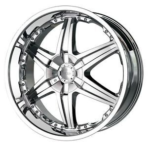 26 inch DIP Wicked Chrome Wheels Rims 5x120 Range Rover