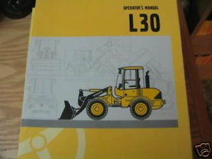 Volvo L30 Wheel Loader Operators Manual