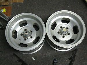 2 15x8 5 Chevy Camaro Chevelle Slot Mag Wheels Rims 5 Lug 5x4 75