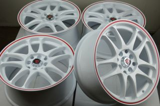 16 Drift White Rims Wheel Yaris Corolla Civic Fit Aveo Cobalt Miata Tiburon Reno