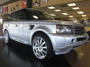 2006 Land Rover Range Rover Sport Silver Navigation 22 inch Wheels