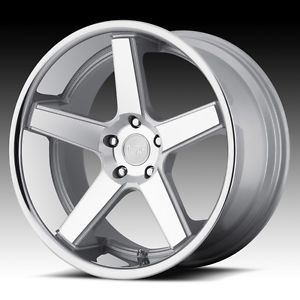 22 inch Niche Nurburg Silver Wheels Rims Staggered 5x112 Mercedes S600 S550 S500
