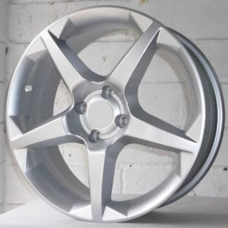 "17"" Vauxhall Meriva 02 2012 MPV 5 Spoke Silver Alloy Wheels 4x100"
