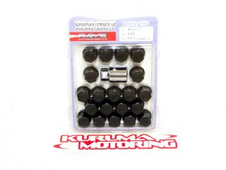 Rays Volk 35mm 12x1 5 Wheel Lug Nuts Black 20x 3