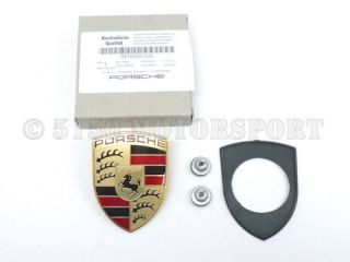 Genuine Porsche 911 996 997 Boxster Cayman Hood Crest Kit New Smooth Design