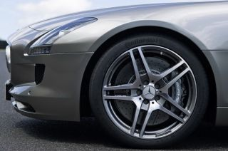 Set Perfect Genuine AMG Factory Mercedes Benz SLS Forged Wheels Tires SLS63