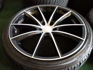 "20"" Ace Convex Wheels Black Machiend Maserati Quattroporte s GTS Nexen Tires 19"