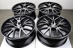 20 5x112 Rims Black Mercedes Benz ML320 ML350 GL550 R350 R500 E500 Alloy Wheels