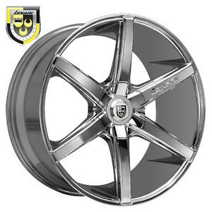 "22"" Chrome Lexani R Six Wheels Rims 5x120 Land Rover Range Rover Sport BMW X5"