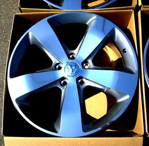 "20"" Factory 2014 Jeep Grand Cherokee Wheels Rims New Machined w Gray Grey 18"
