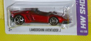 2013 Hot Wheels Showroom 180 Lamborghini Aventador J Variant