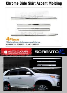 Chrome Side Skirt Accent Garnish Molding A753 Fit 2010 2012 Kia Sorento R